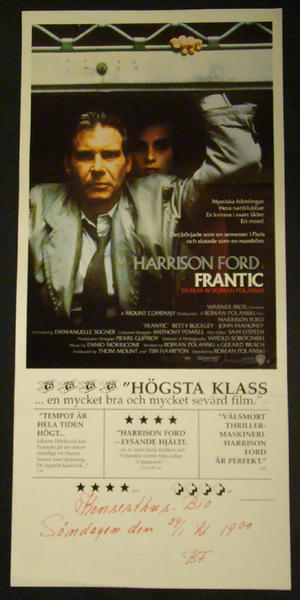 FRANTIC (HARRISON FORD)