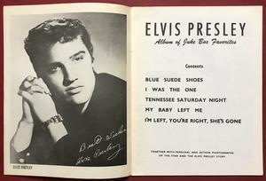 ELVIS PRESLEY - Album of Juke Box favorites US Sheet music