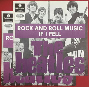 """BEATLES -  Rock And Roll Music DARK PURPLE 7"""" Swe-65 PS ONLY - Archive copy / MINT-!"""
