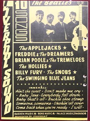BEATLES Applejacks FREDDIE & DREAMERS Hollies SWINGING BLUE JEANS Billy Fury mfl. ca 1964 swedish Sheet music