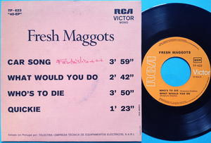 FRESH MAGGOTS - Car song +3 Portugal EP 1971