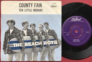 BEACH BOYS - Ten little indians Swe PS 1962