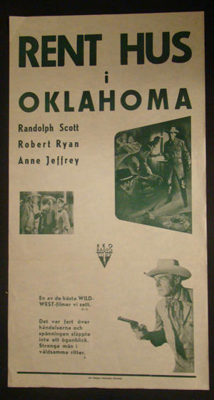 RENT HUS I OKLAHOMA (RANDOLPH SCOTT, ROBERT RYAN, ANNE JEFFREY)