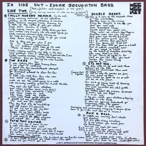 EDGAR BROUGHTON BAND - Inside out UK-orig LP 1972