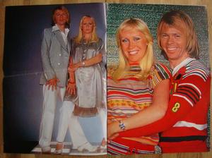 TIDNINGEN POSTER - No 1½ 1978  6 st färg-superposters med ABBA