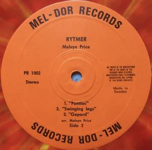 MELVYN PRICE - Rytmer II Swe-orig MULTIFÄRGAD vinyl LP 1971