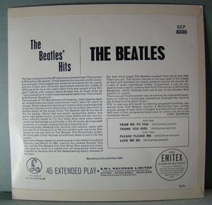 "BEATLES - ""Hits"" UK EP 1963"