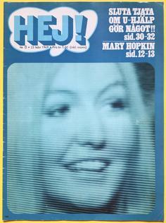 HEJ! - no 8 1969 MARY HOPKIN cover
