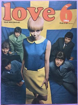 LOVE med Min Melodi - Nr 6 1966 HI-BALLS omslag