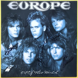EUROPE - Out of this world SIGNERAD LP 1988