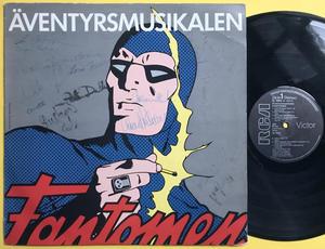 FANTOMEN - Äventyrsmusikalen SIGNERAD LP 1985