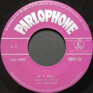 "BEATLES - All my loving / If I fell Grekisk orig 7"" 1964"