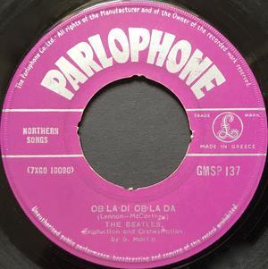 """BEATLES - Ob-la-di ob-la da Greek orig 7"""" 1968"""