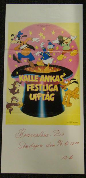 KALLE ANKA FESTLIGA UPPTÅG (WALT DISNEY)