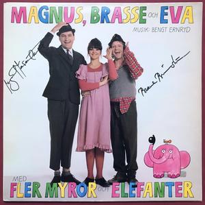 MAGNUS, BRASSE & EVA - Fem myror är fler.. SIGNERAD LP 1977