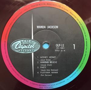 "WANDA JACKSON - ""same"" Japan-orig 10"" LP 1958"