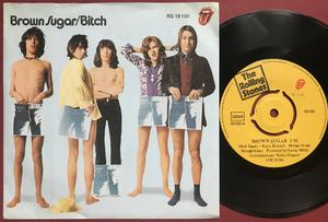 """ROLLING STONES - Brown sugar 7"""" Rare PUSH-OUT center Ger PS  1971"""