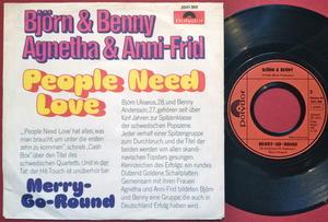 ABBA - People need love Tysk PS 1972