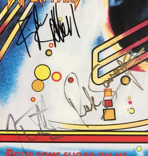 "DEF LEPPARD -  SIGNED 7"" 1987"