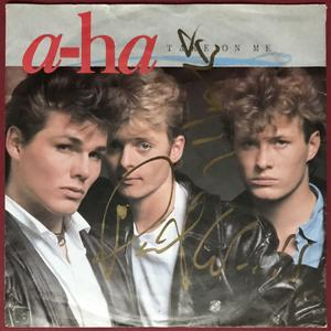 "A-HA - Take on me SIGNERAD Tysk-orig 7"" 1985"