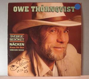 OWE THÖRNQVIST - Sverigebesöket  Autographed LP