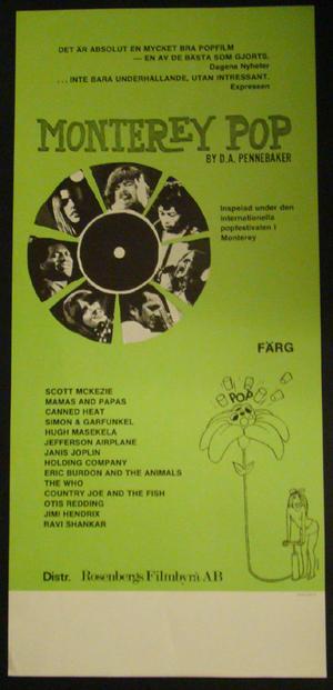MONTEREY POP (JIMI HENDRIX, THE WHO, MAMAS AND PAPAS, JANIS JOPLIN)