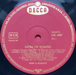STEN & STANLEY - Guns of Bofors Ger-orig signerad  LP 1963
