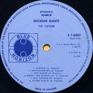 TOP TOPHAM - Ascension heights UK-orig LP 1970