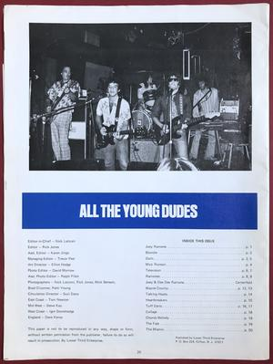 ALL THE YOUNG DUDES - Vol. 1 Nr 6 1977 - Joey Ramone omslag