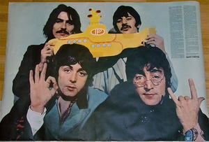 BEATLES - Yellow submarine DN-AFFISCH POSTER 1968