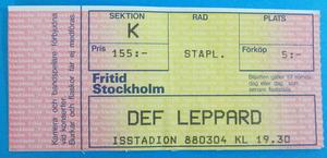 DEF LEPPARD - Stockholm 1988