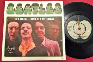 "BEATLES - Get back 7"" Swe PS 1969"
