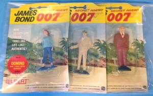 JAMES BOND 007 - Plastic figures in blisterpack Portugal 1965 - set of 3