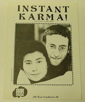 John Lennon / Yoko Ono - Instant Karma Sheet music 1970