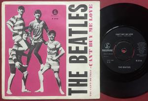 "BEATLES - Can´t buy me love 7"" pink Swe PS 1964"