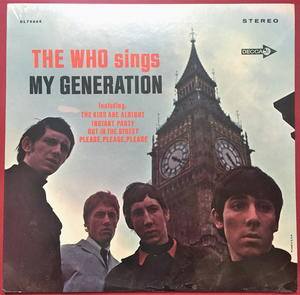 WHO - My generation US-orig LP 1965 OÖPPNAD!