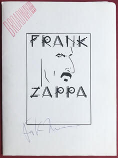 FRANK ZAPPA - Broadway the hard way SIGNERAD Press kit 1988