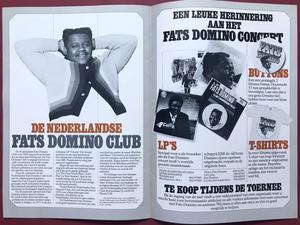 FATS DOMINO - SIGNED Tour program ca 1980