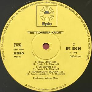 "TRETTIOÅRIGA KRIGET - ""same"" Swe-orig LP 1974"