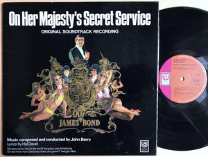 JAMES BOND - On Her Majesty´s secret service SIGNERAD UK-orig LP 1969