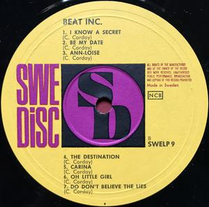"BEAT INCORPORATED - ""same"" Swe-orig LP 1964"