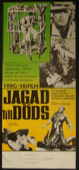 JAGAD TILL DÖDS (TY HARDIN, PIER ANGELI)