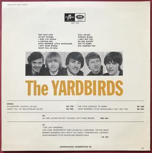 "YARDBIRDS -""same""  Swe-orig ""Big bass cover"" LP 1965"