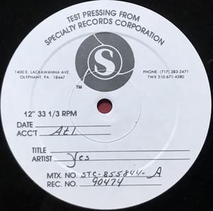 YES  - 9012 LIVE US-orig TESTPRESSNING LP 1985