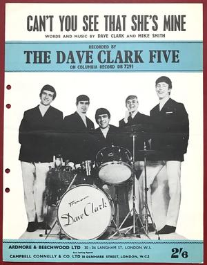 DAVE CLARK FIVE - Can´t you see that.. USA Nothäfte 1965