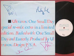 "ULTRAVOX - One small day SIGNERAD 12"" Maxi 1984"
