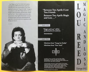 LOU REED - Europe Tour program 1992