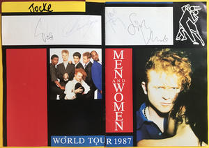 SIMPLY RED - SIGNED Tour program 1987