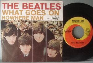 "BEATLES - What goes on 7"" US 1965 PS"