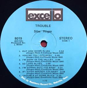 SILAS HOGAN - Trouble SIGNERAD LP 1971